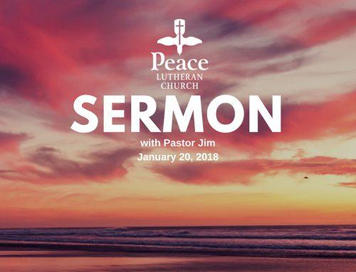 Sermon – January 20
