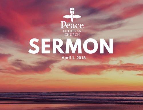Sermon – April 1