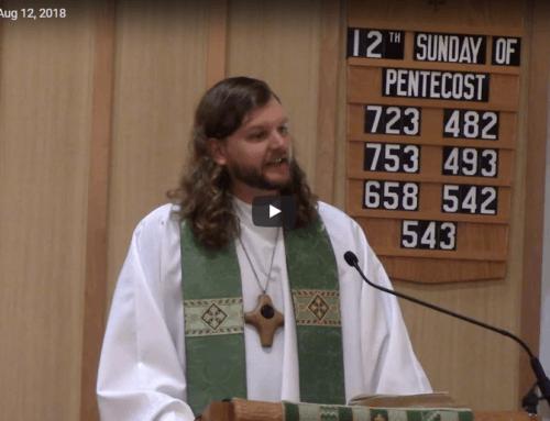 Sermon – Aug 12