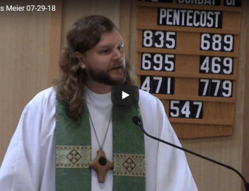 Sermon – July 29