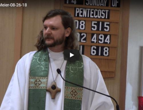 Sermon – Aug 26