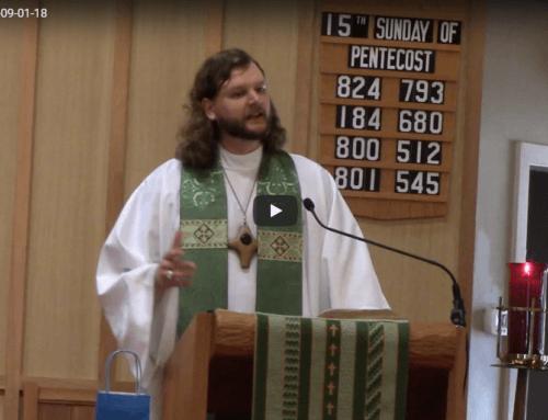 Sermon – Sept 1