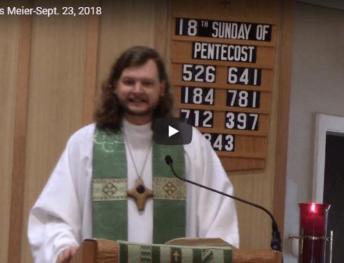 Sermon – September 23