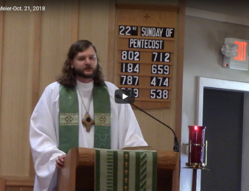 Sermon – Oct 21
