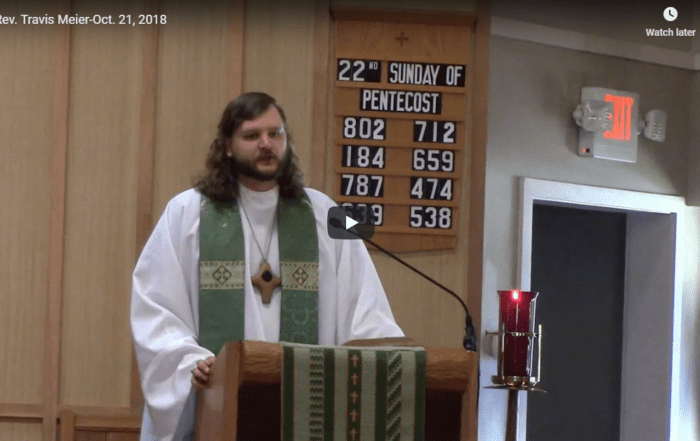 Sermon October 21