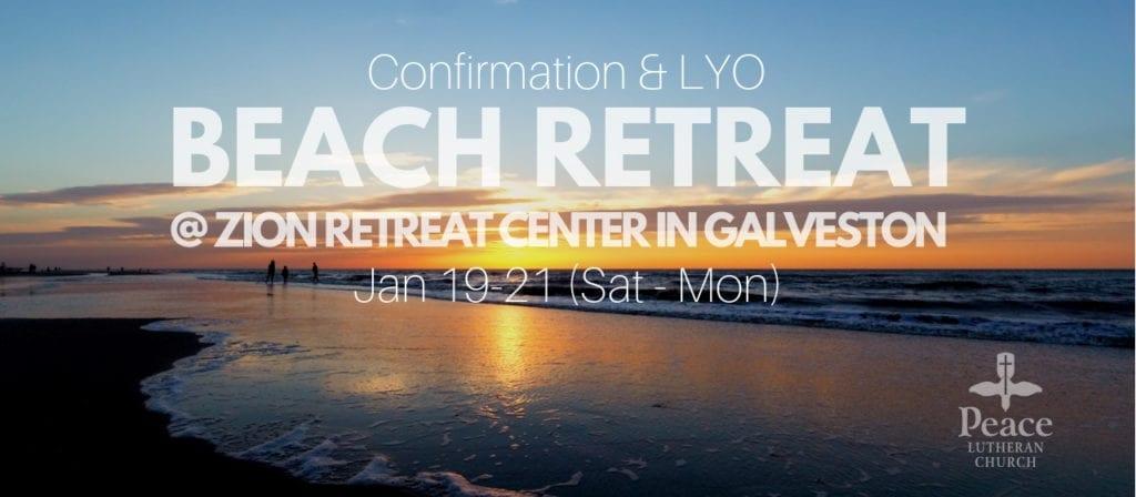 LYO Confirmation Beach Retreat Zion Retreat Center in Galveston
