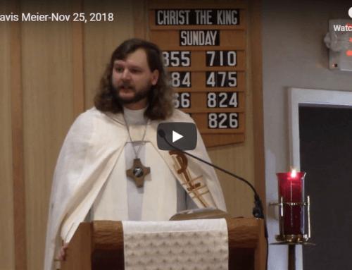 Sermon – November 25