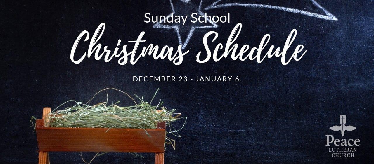 Sunday School Christmas Schedule