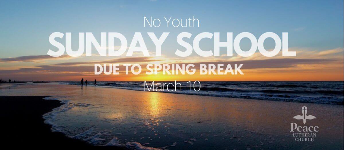 No Youth Sunday School