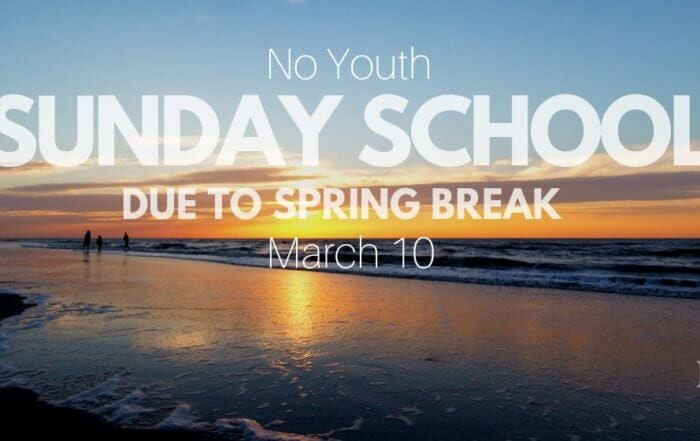 No Youth Sunday School