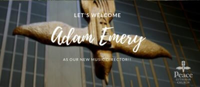 Welcome Adam Emery - New Music Director