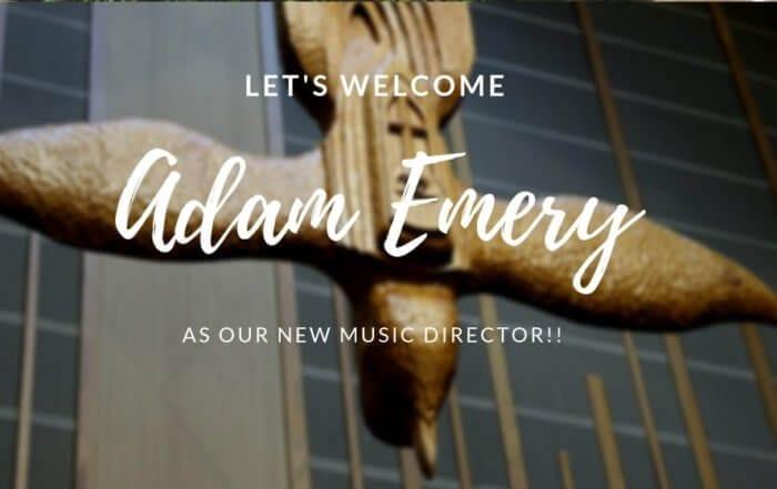 Welcome Adam Emery - New Music Director