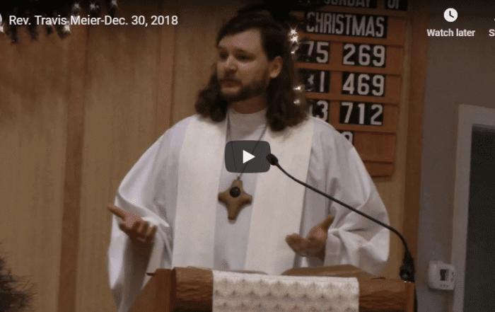 Sermon December 30, 2018