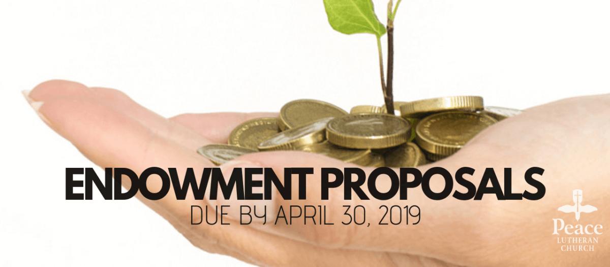 2019 Endowment Proposals