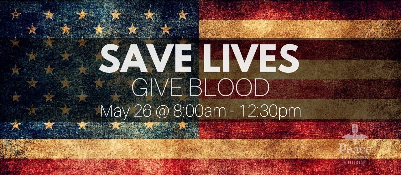 Blood Drive May 26 8am-12pm