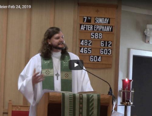 Sermon – February 24