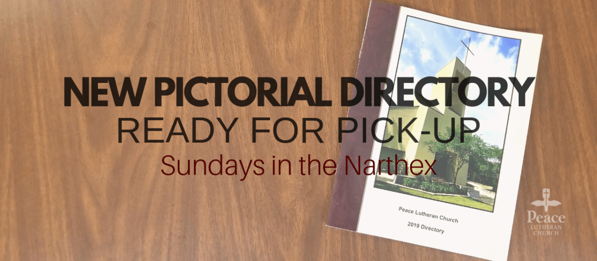 Pictorial Directories are ready to be picked up!