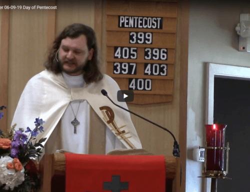 Sermon – June 9