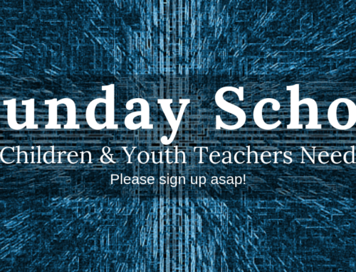 Children and Youth Sunday School Teachers 2019