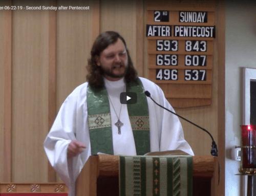 Sermon – June 22