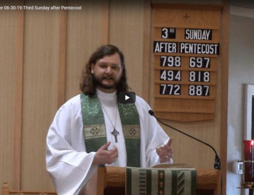 Sermon – June 30