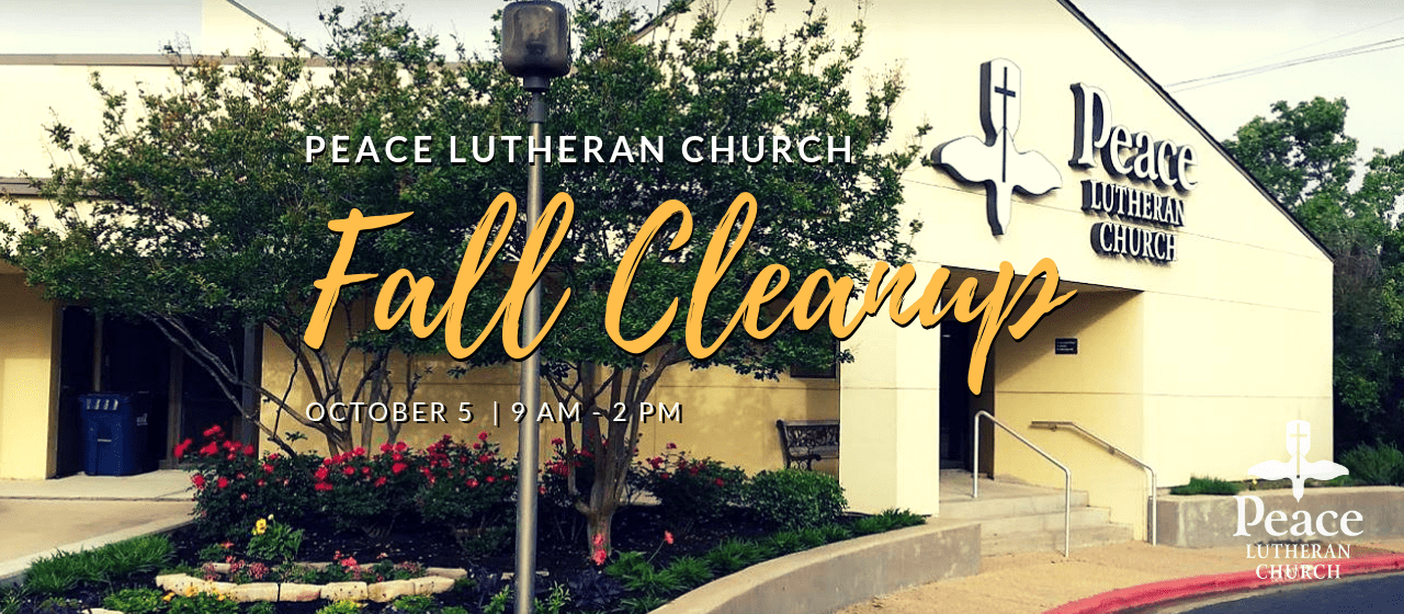 PLC Fall Cleanup October 5 9am to 2pm
