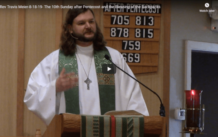 Sermon August 18