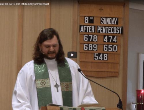 Sermon – August 4