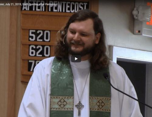 Sermon – July 21