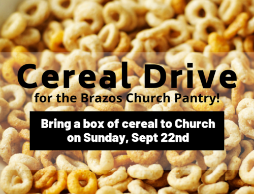 Cereal Challenge For Brazos Church Pantry