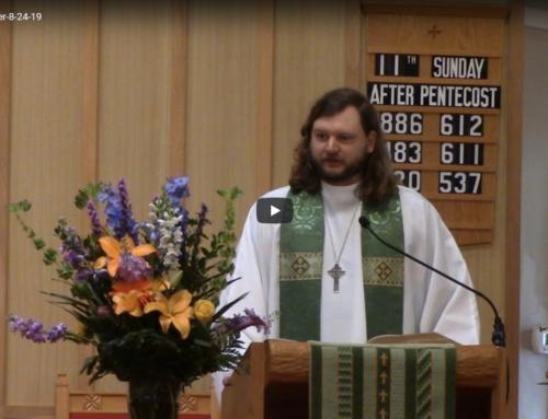 Sermon – August 24