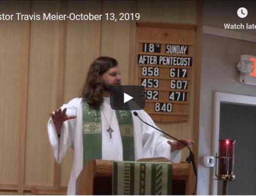 Sermon – October 13