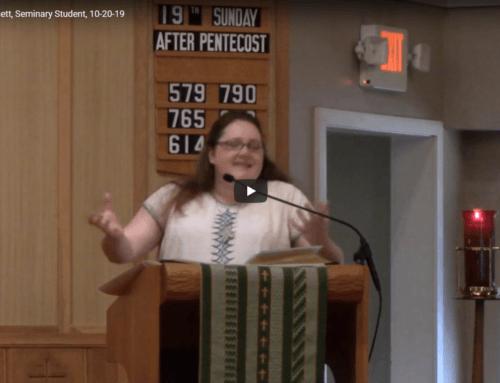 Sermon – October 20