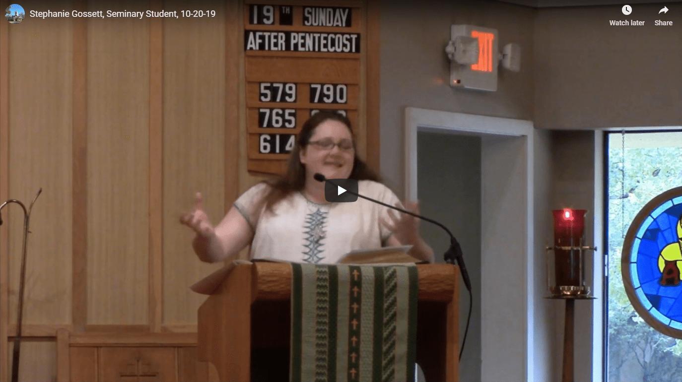 Sermon October 20
