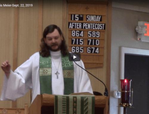 Sermon – September 22