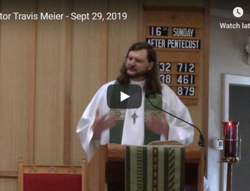 Sermon – September 29