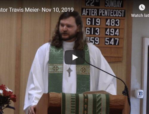 Sermon – November 10