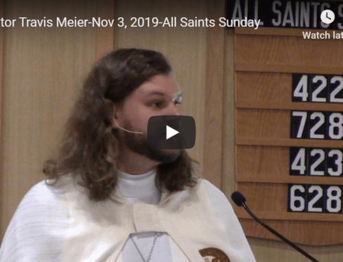 Sermon – November 3
