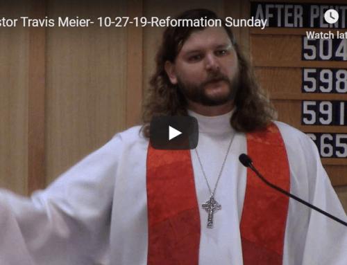 Sermon – October 27