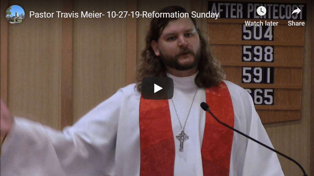 Sermon October 27