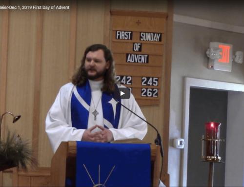 Sermon – December 1