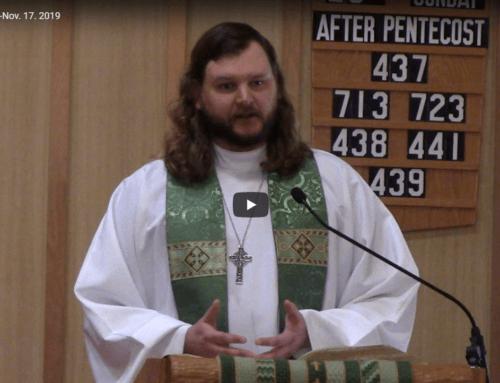 Sermon – November 17