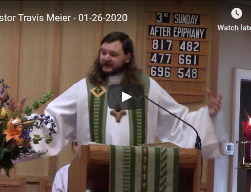 Sermon – January 26