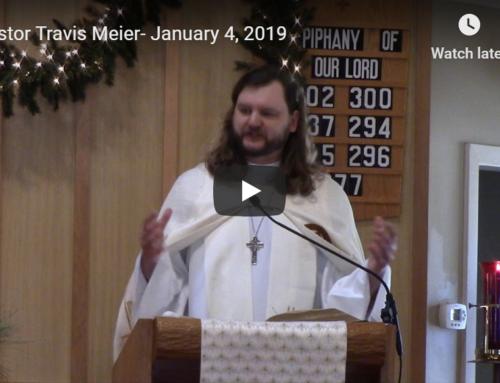 Sermon – January 4