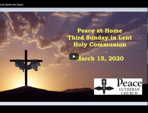 Peace at Home Service – March 15