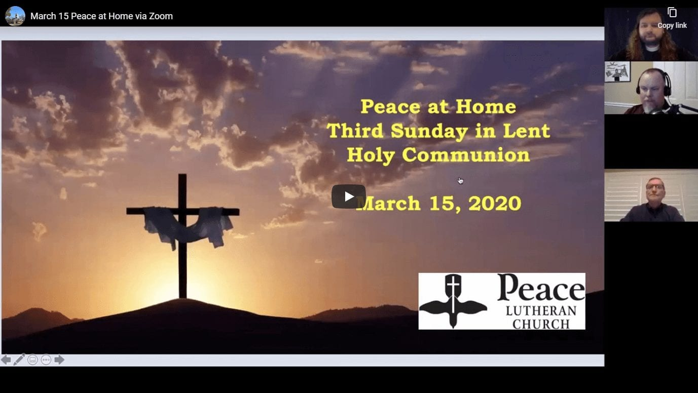 Peace at Home - March 15