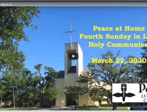 Peace at Home Service – March 22