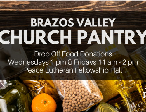 Brazos Valley Church Pantry Needs Your Help