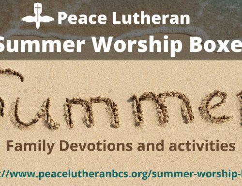 2020 Summer Worship Boxes