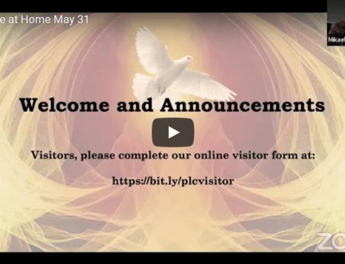 Peace at Home May 31